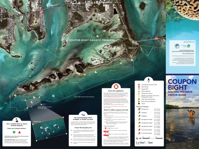 Coupon Bight Visitor Guide 24-x-18-Map-Fold-Brochure-Side-1-Map-